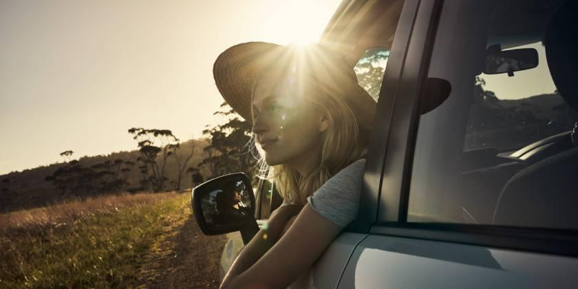 travelling in australian bushland