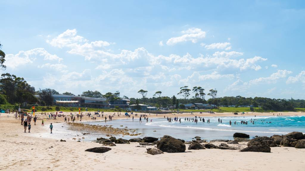 A beach view of Mollymook NSW