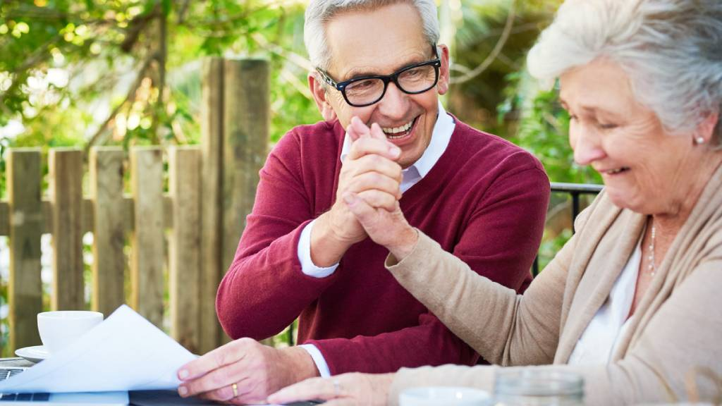 old couple planning for future finances
