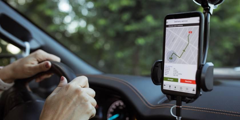 using a car GPS