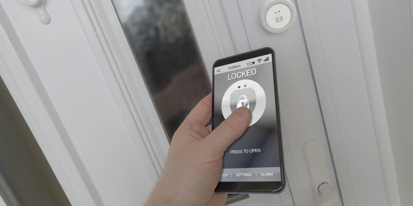 smart lock on phone