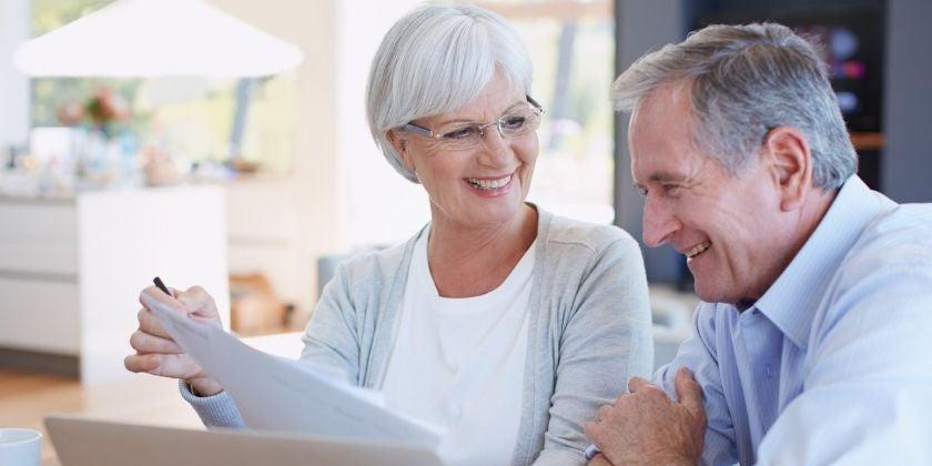 older couple discussing estate