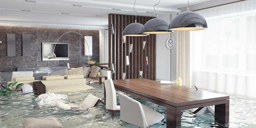 flooded house inside