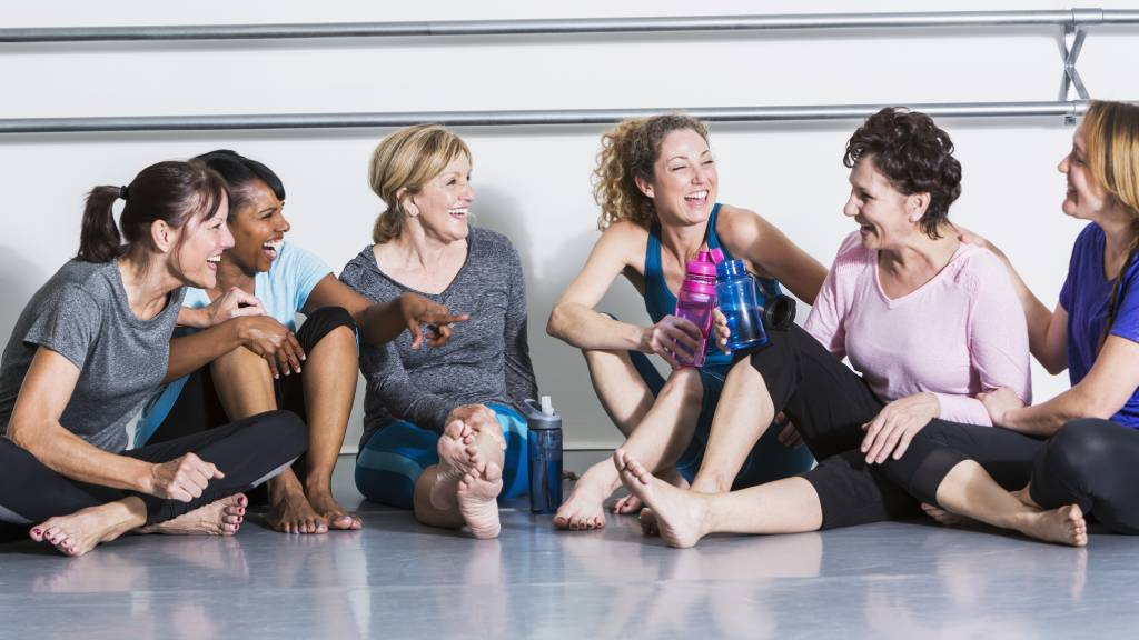 group of women at different ages working out