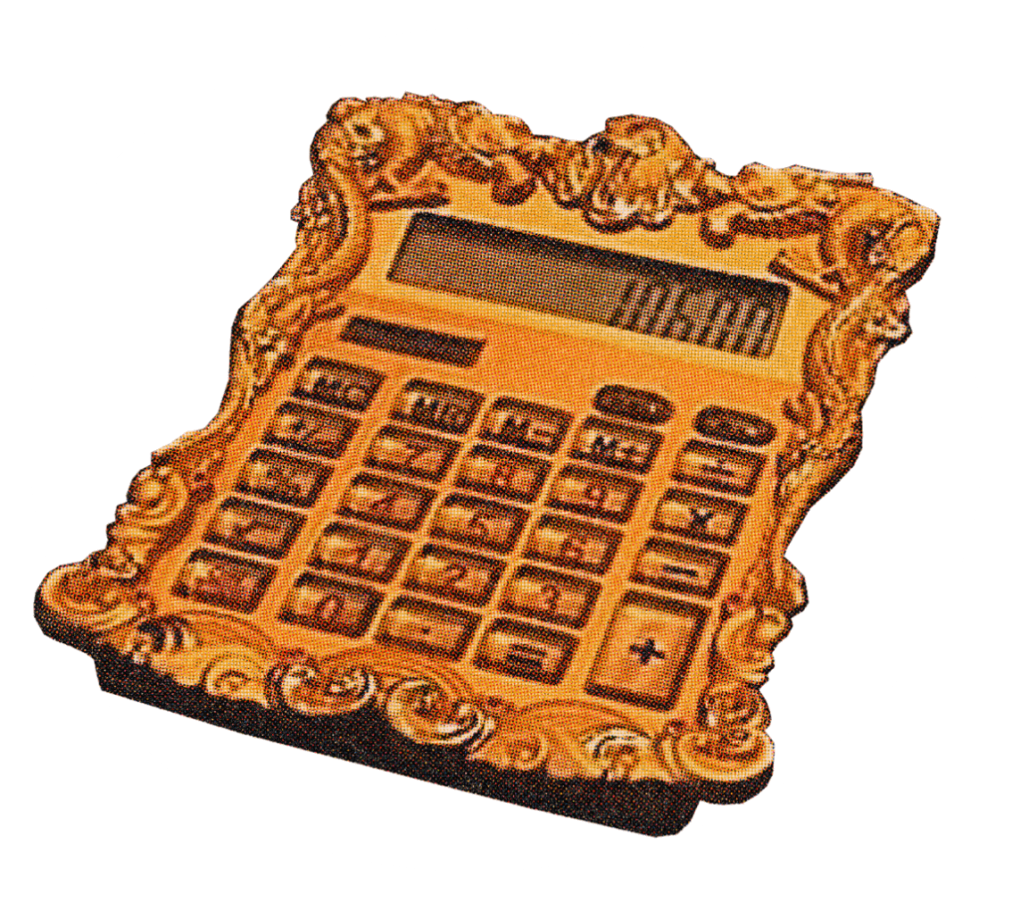 OMG investors all get one of these gold-encrusted calculators. Jokes, but a girl can dream.