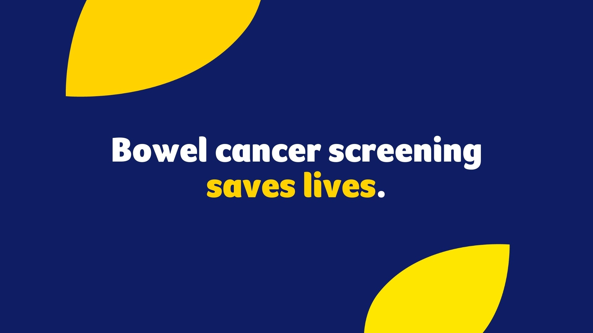 Bowel Cancer Screening Saves Lives | Cancer Council