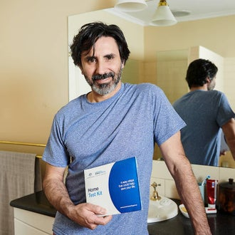 Reorder bowel cancer screening kit
