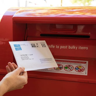 Bowel cancer test kit mailing