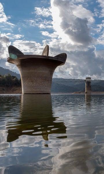 Mangatangi dam.