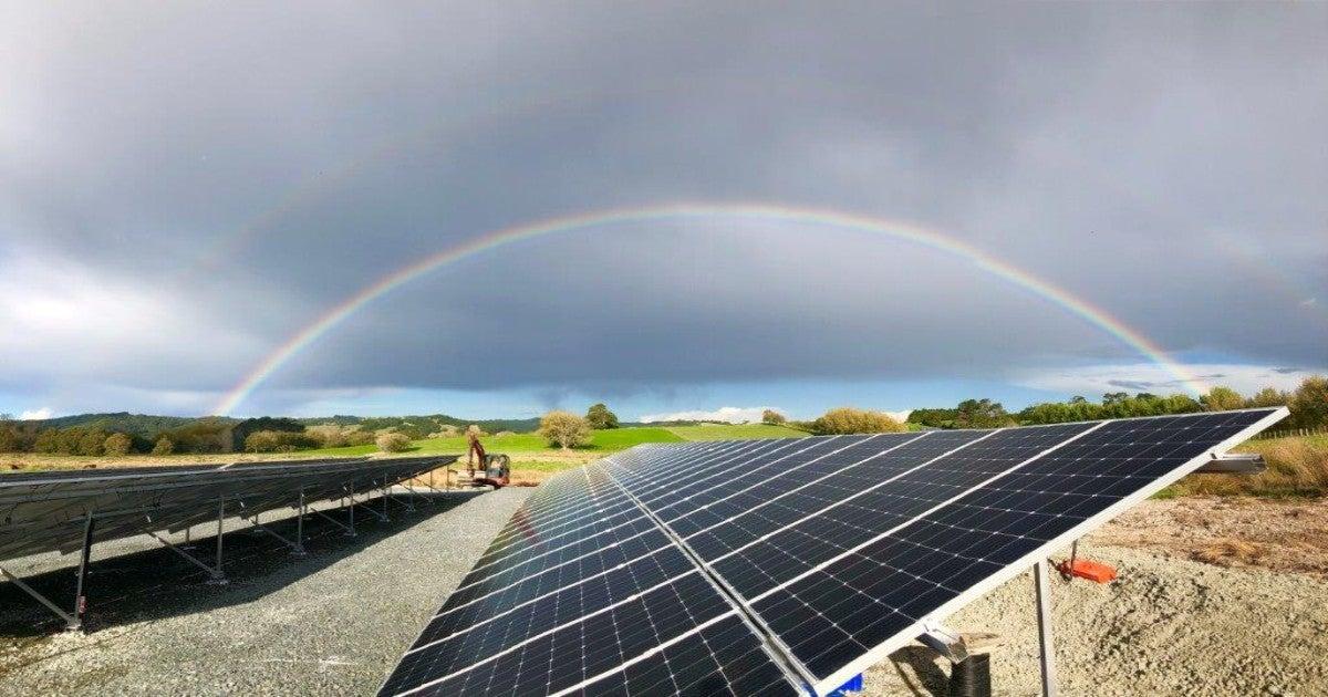 A solar array at Wellsford