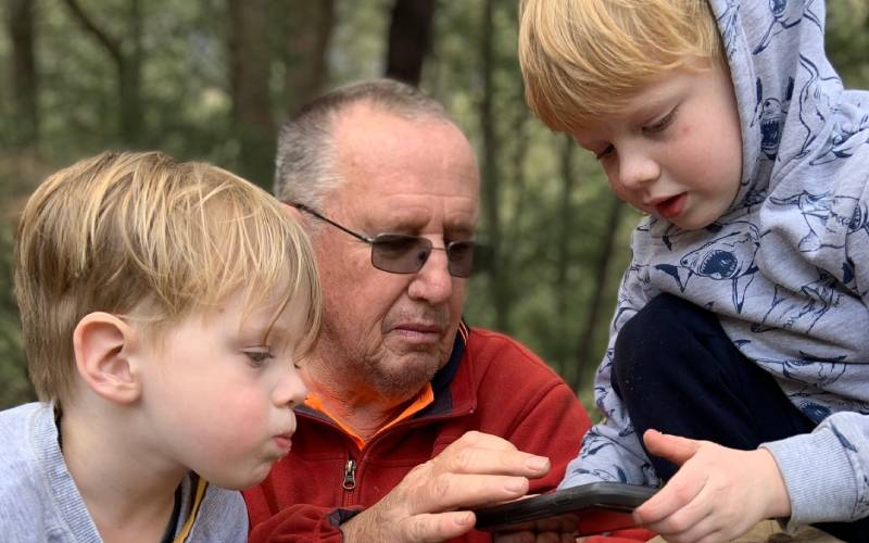 Graham and two of his grandsons.