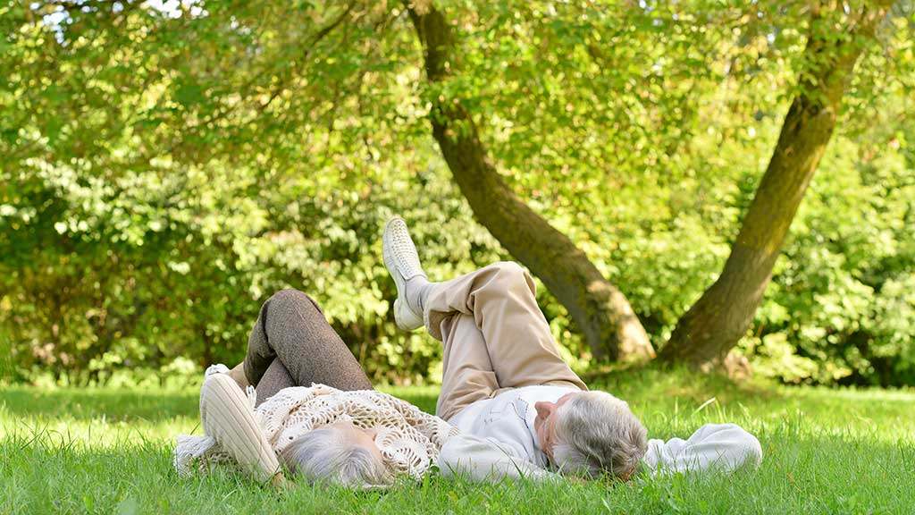 couple together in park