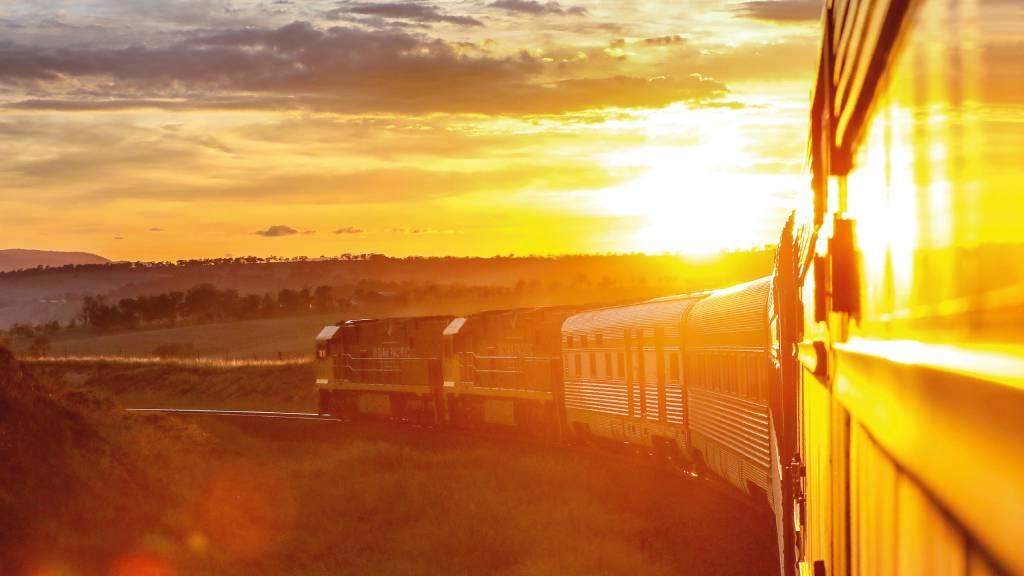 train in Australian outback