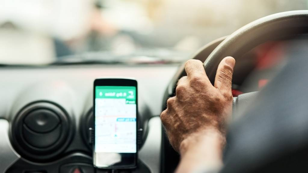 satellite navigation system in car