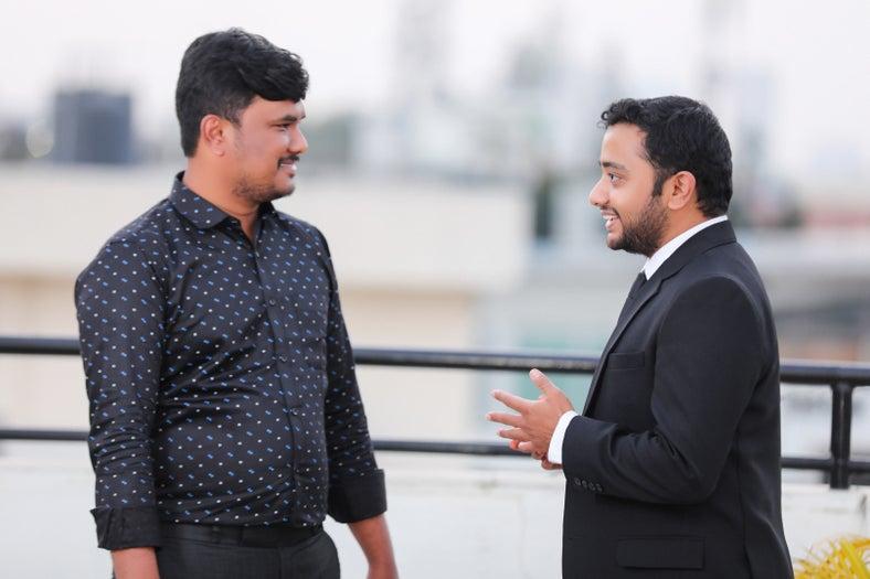Suresh & Rajath discussing