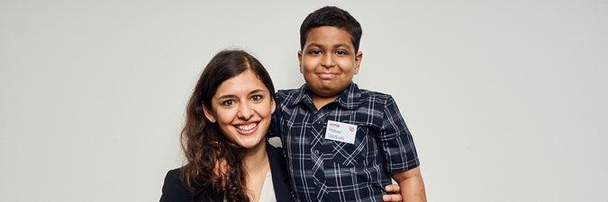 Donor Dr Sita Arjune meeting patient Maheer in Germany