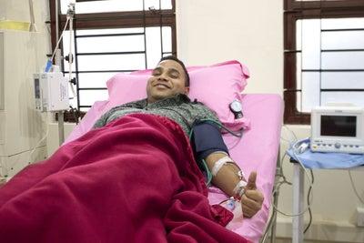 Harsh donating stem cells