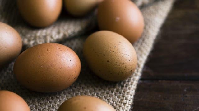 Few eggs on a brown cloth