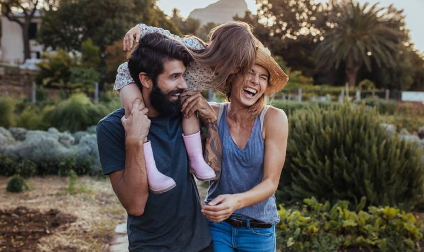 Kiwi family outdoors