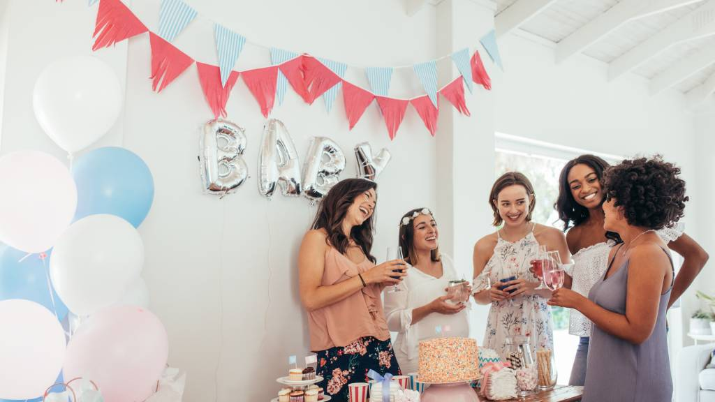 group of women at baby shower
