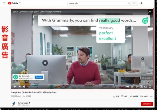 YouTube廣告樣式