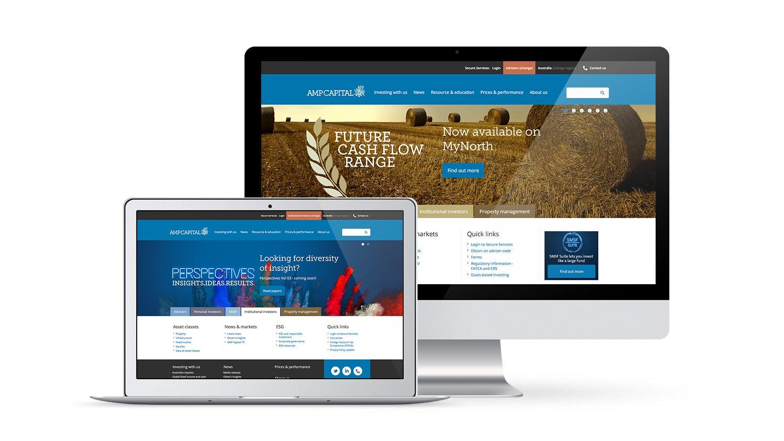 AMP   website on desktop and laptop   Devotion