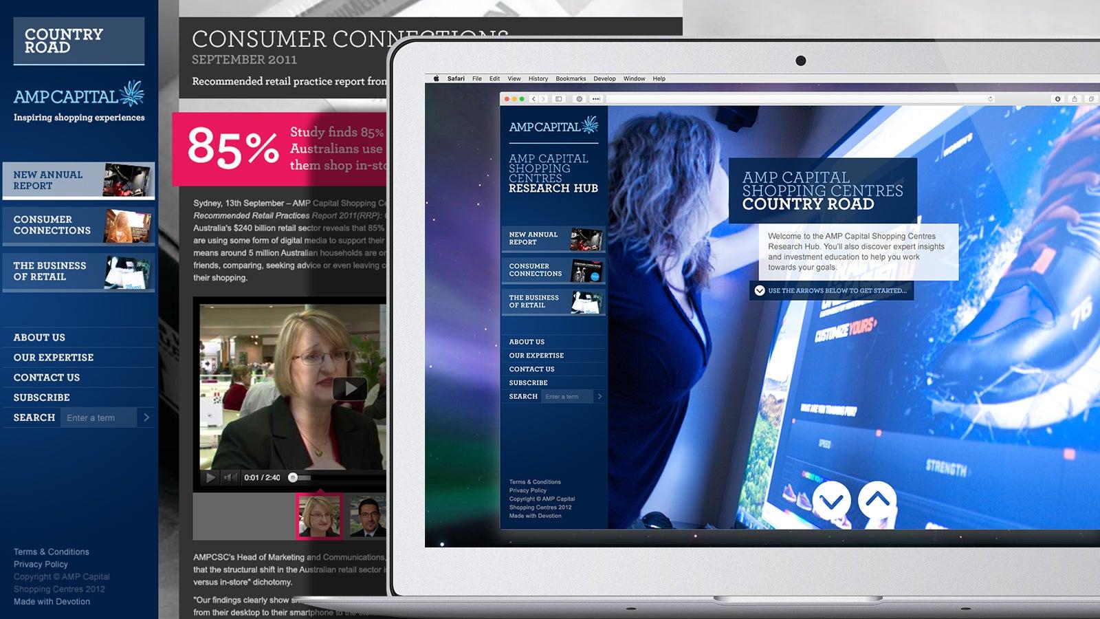 AMP   AMP Capital shopping experiences portal   Devotion