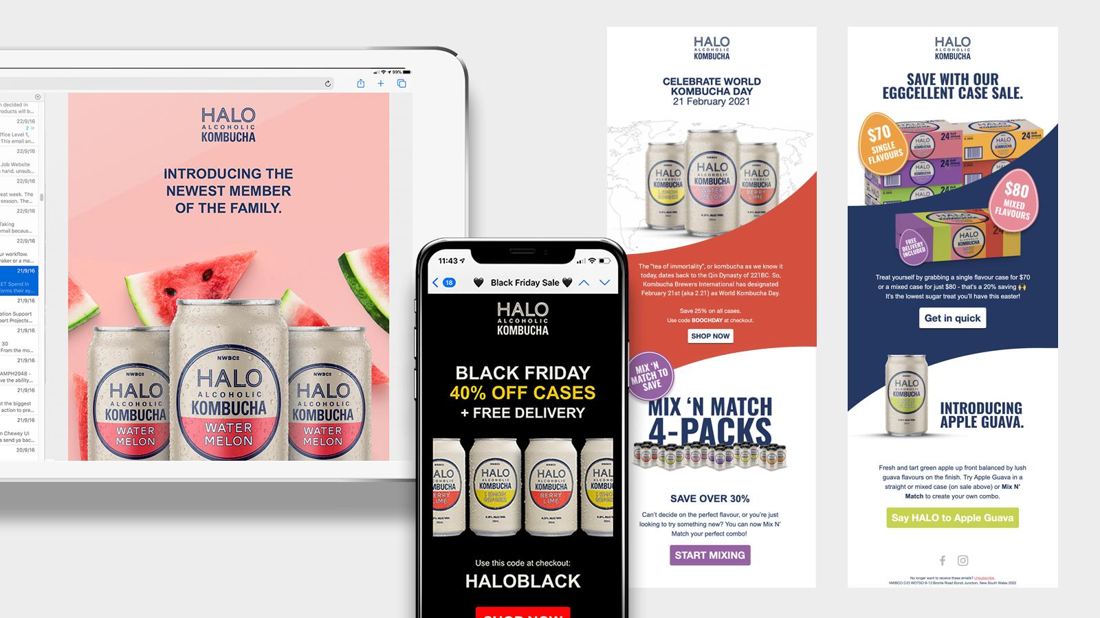 Halo Alcoholic Kombucha | Email (EDM) examples  | Devotion