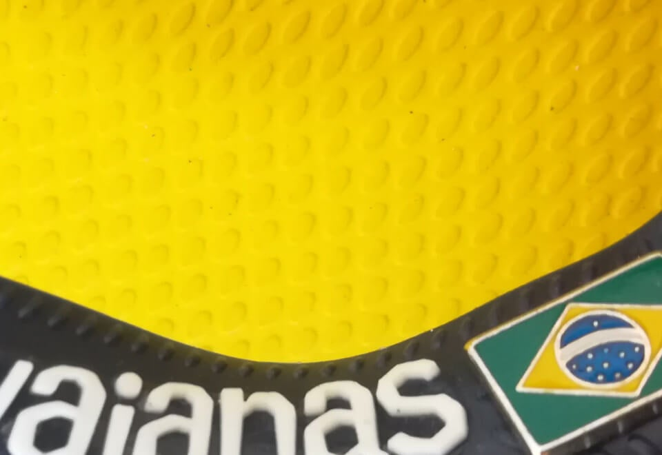 Havaianas | close up of a Havaiana thing strap | Devotion
