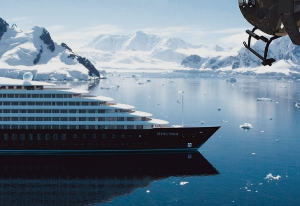 Scenic | cruise ship sailing through icebergs | Devotion
