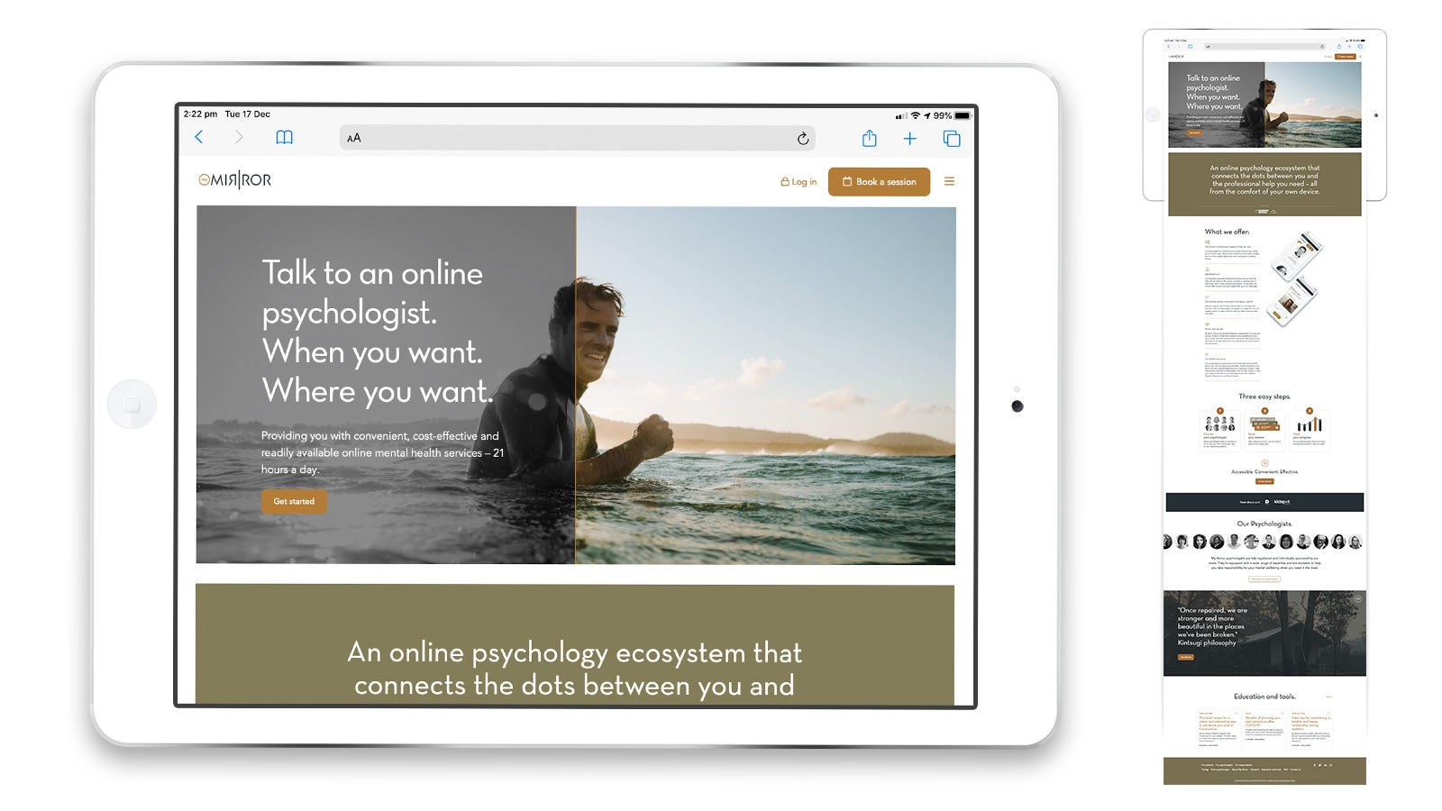 My Mirror   My Mirror homepage on tablet   Devotion