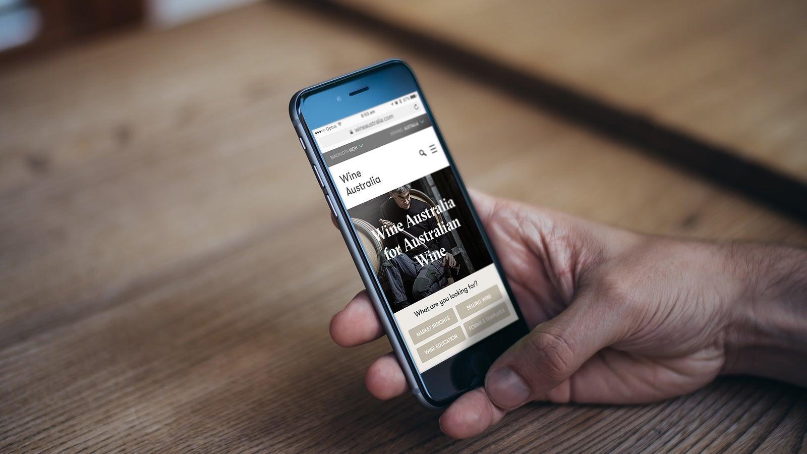 Wine Australia   Wine Australia homepage on mobile   Devotion