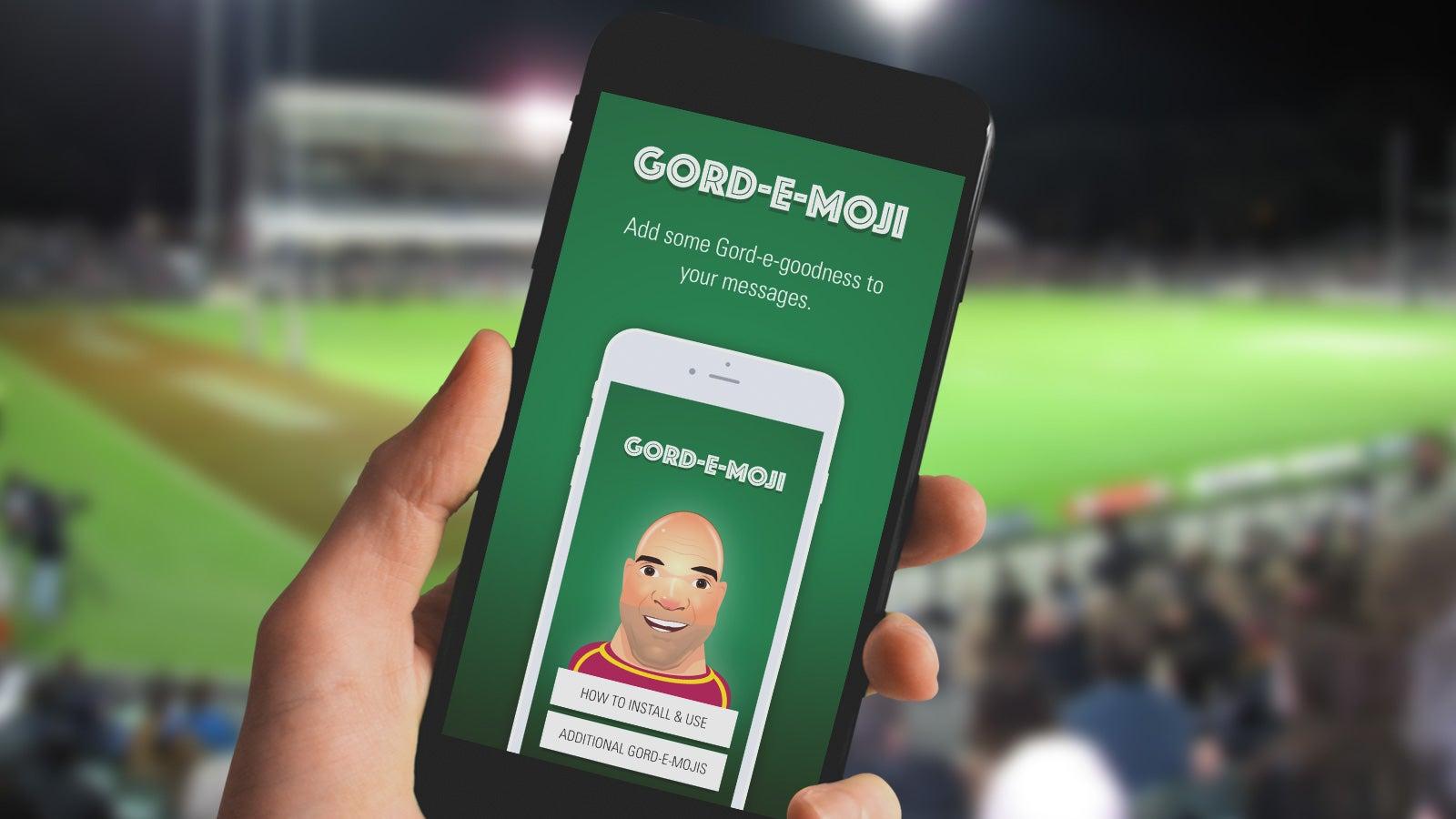 Gord-e-moji | Gorden Tallis Rugby League emojis app on mobile | Devotion