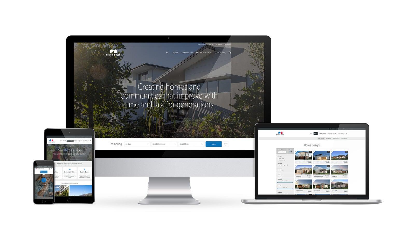 Sekisui House   Responsive website on desktop, laptop, tablet and mobile   Devotion