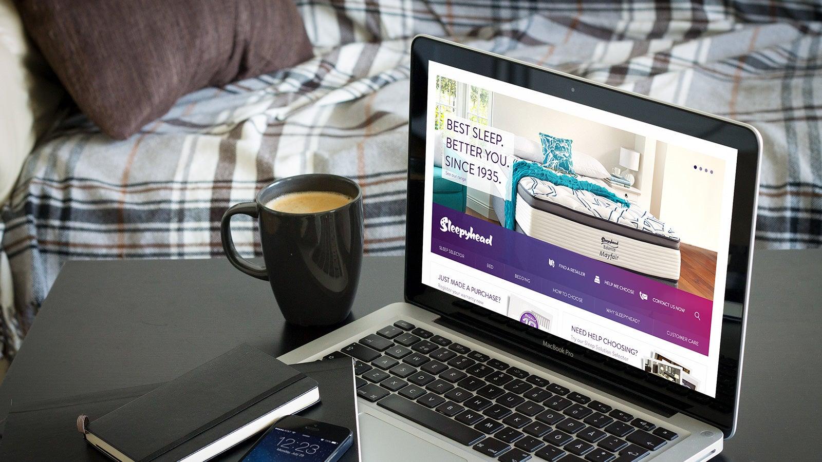Sleepyhead & SleepMaker | website on desktop | Devotion