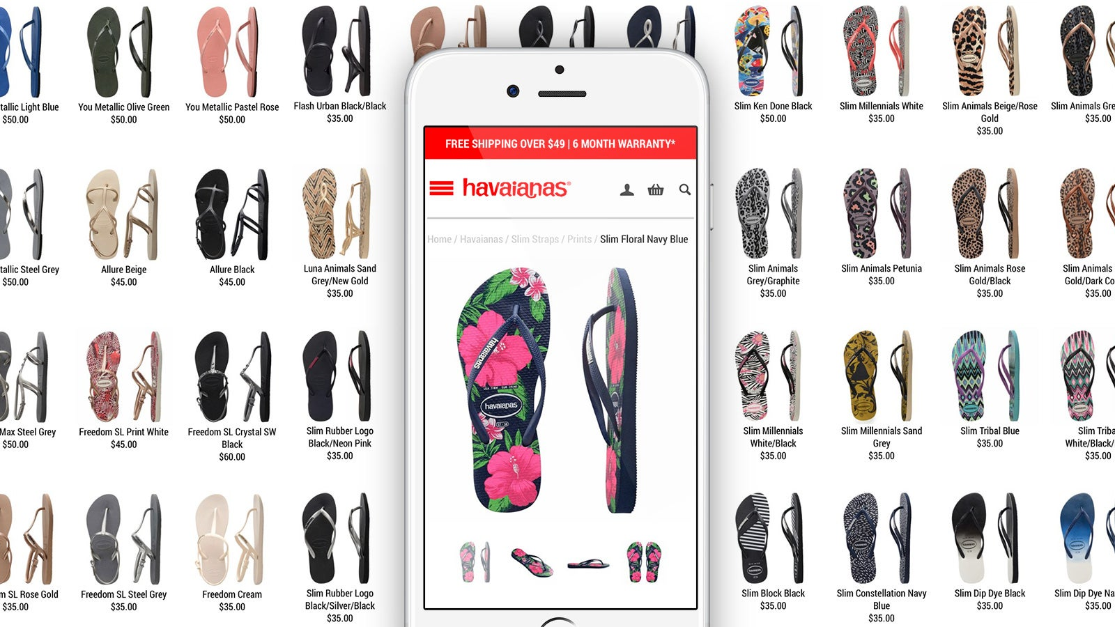 Havaianas | product details page on mobile | Devotion