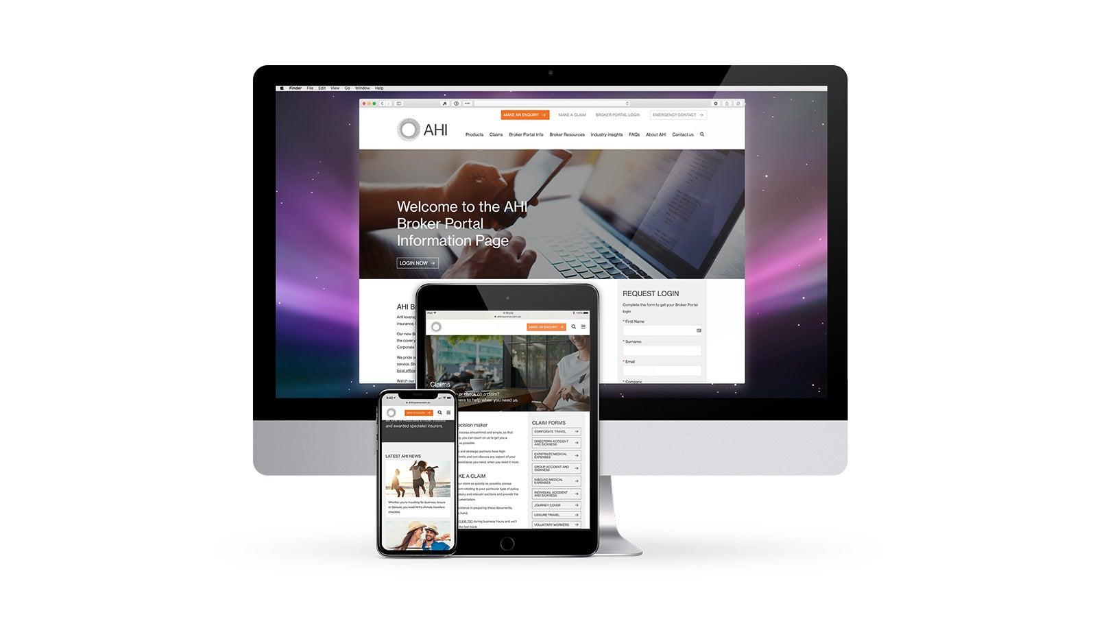 AHI   responsive website on desktop, tablet and mobile   Devotion