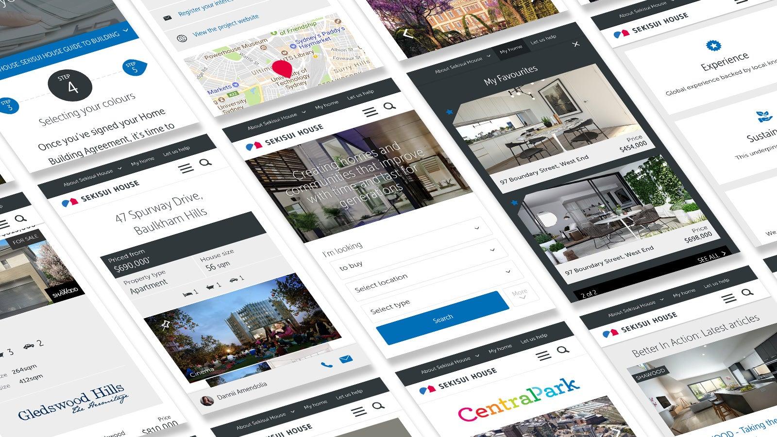 Sekisui House   mobile website pages   Devotion
