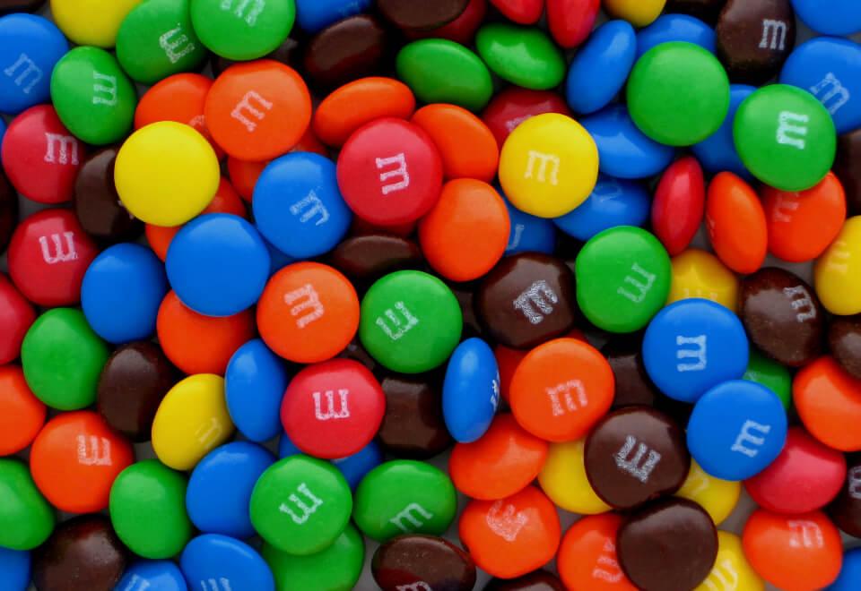 M&M's | pile of M&M's | Devotion
