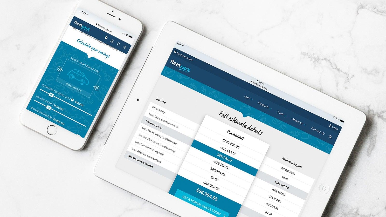 Fleetcare   Website novated solution calculator   Devotion