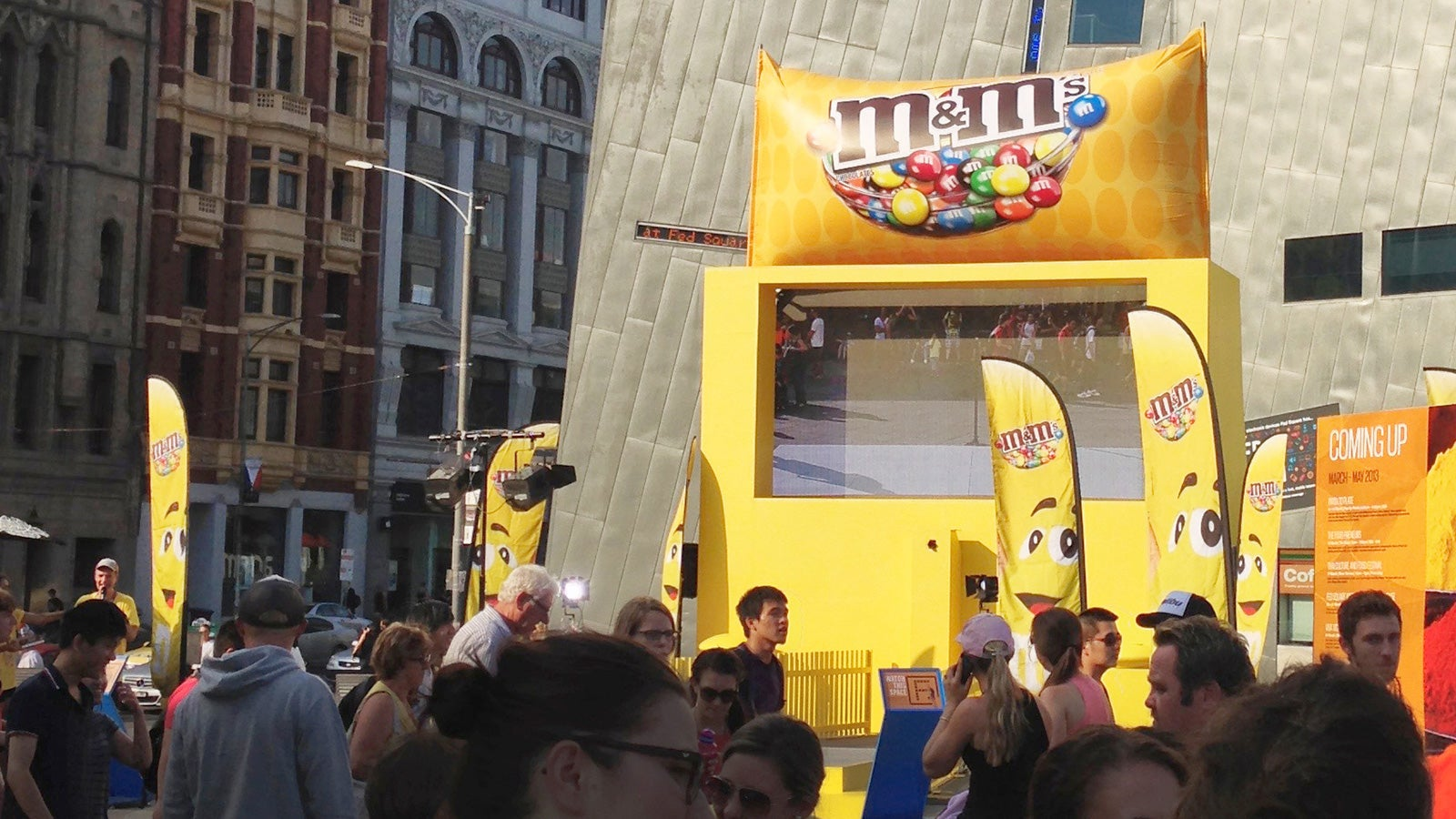 M&M's | M&M's augmented reality display in Melbourne's Federation Square | Devotion