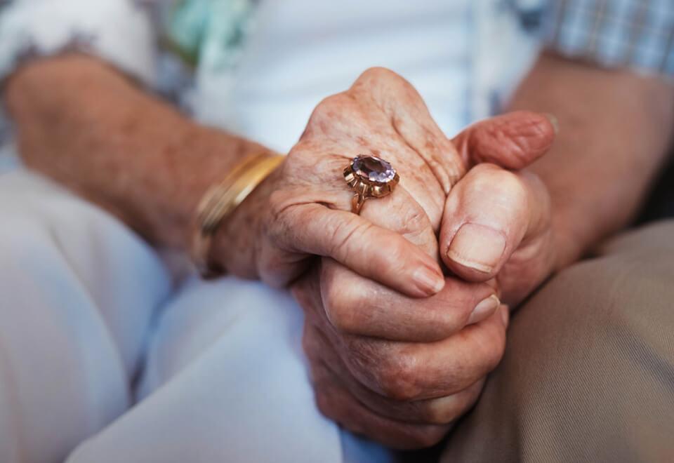 Just Better Care | elderly couple holding hands | Devotion