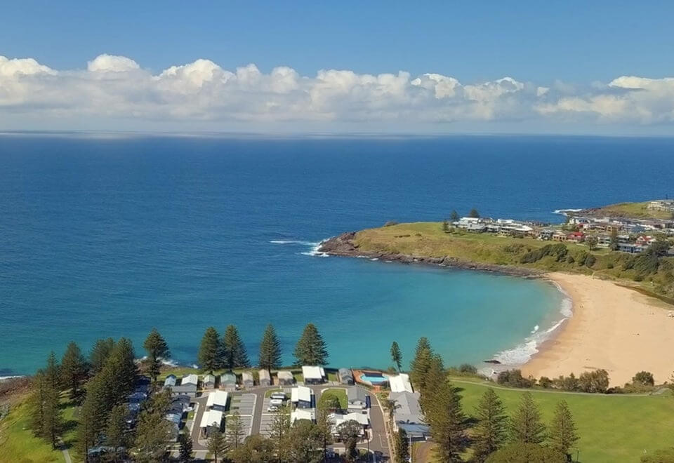 G'day Parks | birds eye view of a beachside G'day Parks location | Devotion