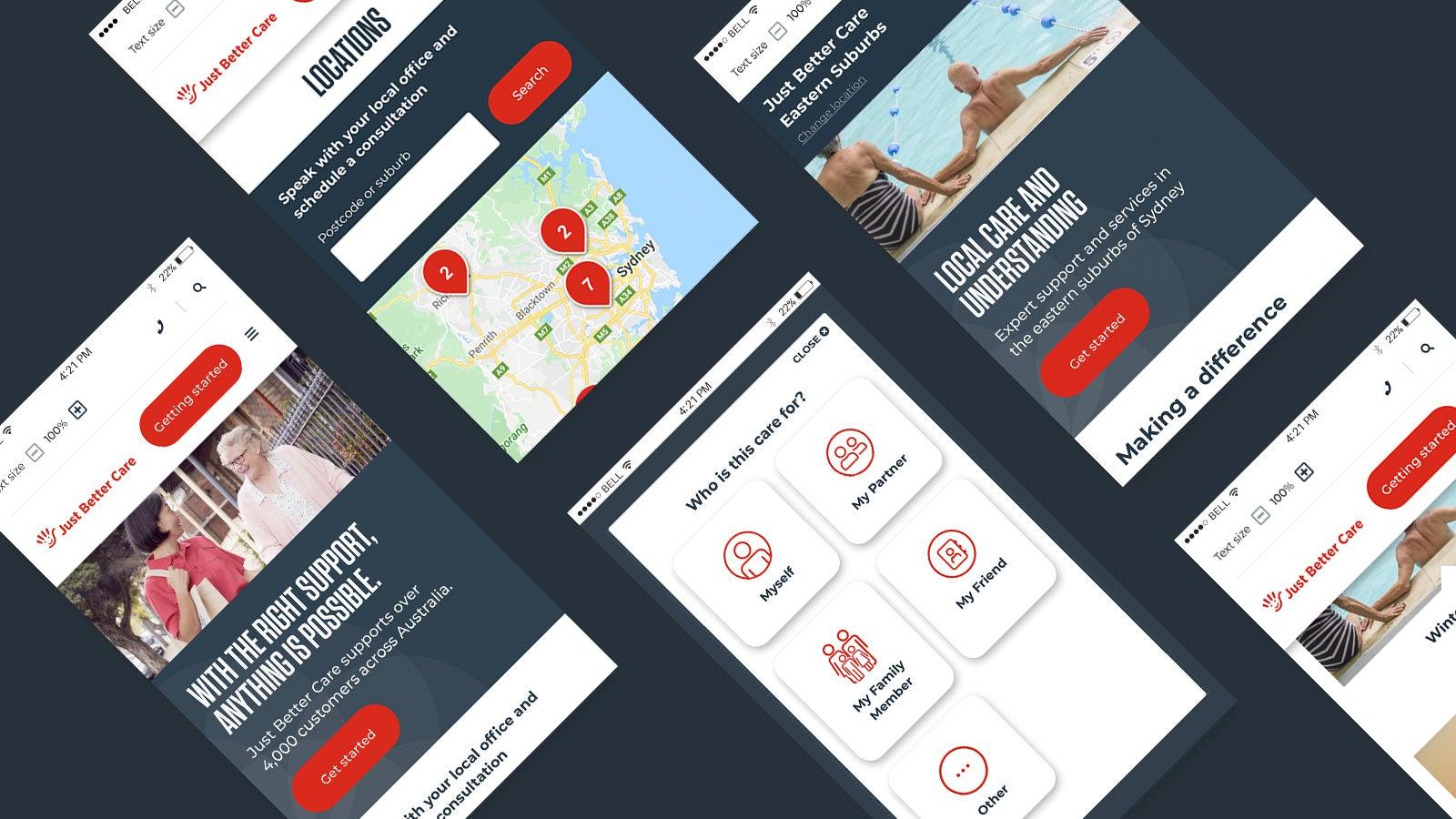 Just Better Care   mobile website pages   Devotion