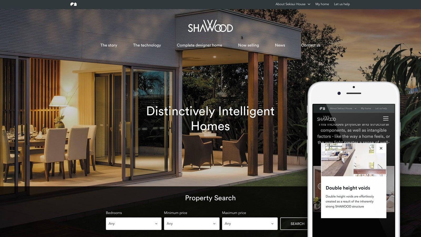 Sekisui House   ShaWood microsite homepage   Devotion