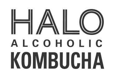 Halo Alcoholic Kombucha black and white logo | Devotion