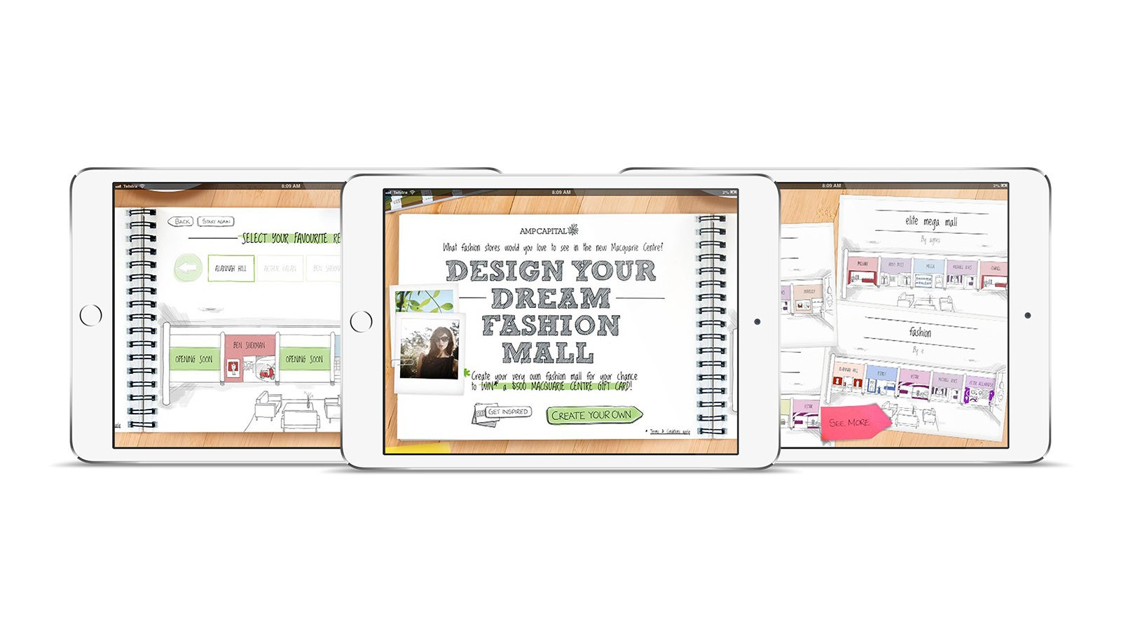 AMP   Design your dream fashion mall tool on tablet   Devotion