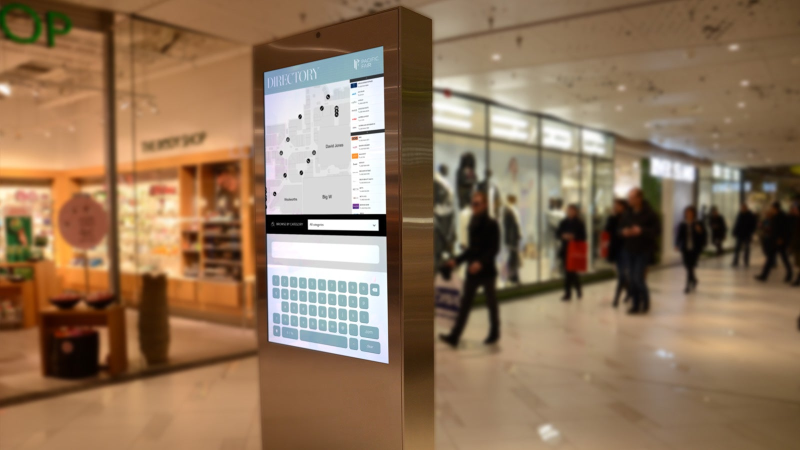 AMP   shopping centre interactive navigation tool at Pacific Fair   Devotion
