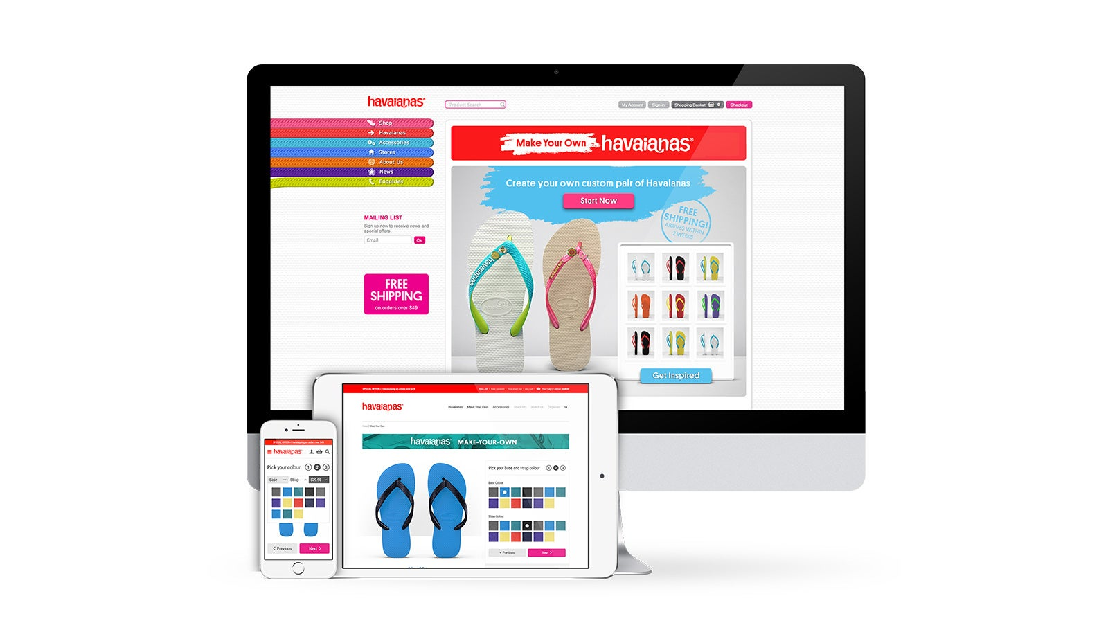 Havaianas | Make Your Own Havianas customisation tool on desktop, tablet and mobile | Devotion
