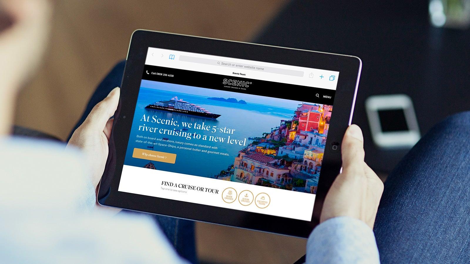Scenic | Scenic website homepage on iPad | Devotion
